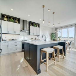 modern kitchen in the midland showhome in rosewood