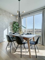 dining room in the midland showhome in rosewood
