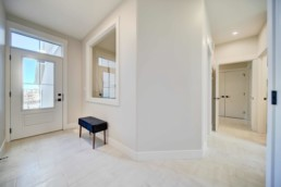 open foyer entry in the midland showhome by western living homes
