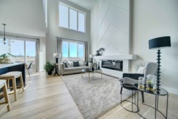 bright open great room in the western living homes showhome in rosewood