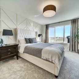 master bedroom in the midland in rosewood
