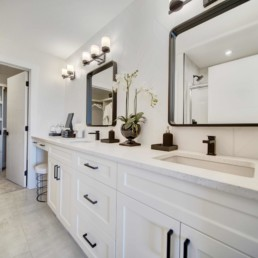 dual sinks in master bathroom in the midland in rosewood