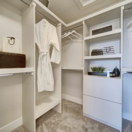 walk in closet in the midland by western living homes in rosewood