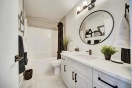 bathroom of western living homes showhome the midland in rosewood