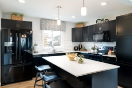 altius virginia kitchen with large island and modern cabinets