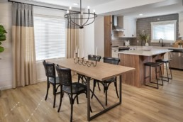Virginia townhome dining room in Rosewood
