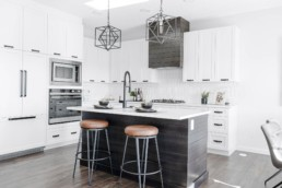 Kitchen in The Orlando Showhome in Rosewood at Secord Edmonton
