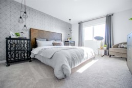 Master Bedroom in The Orlando Showhome in Rosewood at Secord Edmonton