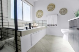 Master Ensuite in The Orlando Showhome in Rosewood at Secord Edmonton