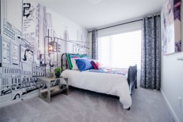 Bedroom in Landmark Homes' The Orlando Showhome in Rosewood