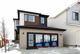 Front Elevation of The Grahame Showhome in Rosewood at Secord Edmonton
