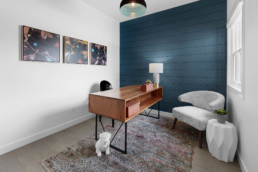 Home Office in The Grahame Showhome in Rosewood at Secord Edmonton