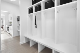 Mud Room in The Grahame Showhome at Rosewood at Secord