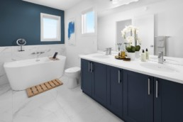 Modern Master Ensuite in The Grahame Showhome in Rosewood at Secord Edmonton