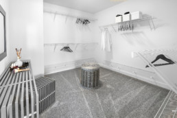 Large Walk-In Closet in The Grahame Showhome at Rosewood Edmonton