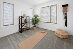 Yoga Room in The Grahame Showhome in Rosewood Edmonton