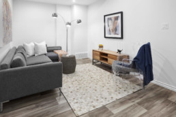 Basement Suite Living Room in The Grahame Showhome